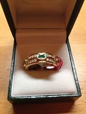 Emerald & Diamond FULL Eternity Ring in size 'M'