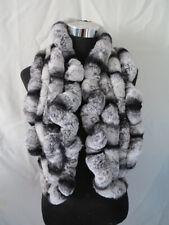 Handmade 100% rex rabbit fur scarf /cape/ wrap/shawl /collar gray fungus shape