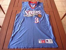 Champion Allen Iverson Philadelphia 76ers Sixers Authentic Jersey sz. 48 vtg