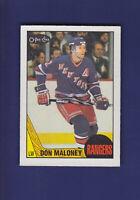 Don Maloney 1987-88 O-PEE-CHEE OPC Hockey #49 (EXMT) New York Rangers