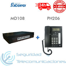 CENTRALITA TELEFONICA + TELEFONO ANALOGICO PANTALLA 1 LIN 8 EXT PBX