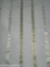 Sanderson Curtain Fabric VIOLETTA 2.1m Silver/Ivory Linen/Silk Mix Ribbon Stripe