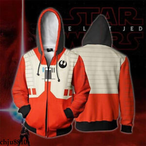 Star Wars Print Sweater Leisure Hoodies Zipper Sweatshirt Men's Coat Sportswear