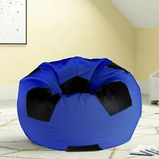 Ample Decor Leatherette Soccer Design Bean Bag Cover without Beans