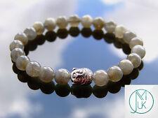 Buddha Labradorite Natural Gemstone Bracelet 7-8'' Elasticated Healing Stone