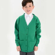 Maglioni e cardingan cardigan verde per bambini dai 2 ai 16 anni