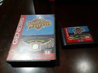 World Series Baseball (Sega Genesis, 1994)  Cartridge and  case