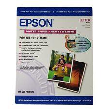1 Package (50) EPSON S041257 Premium Photo Paper Matte, 8.5x11 FREE Ship.