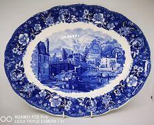 "Palissy Pottery Thames River Scenes ""Datchet Bridge Bucks"" Platter 31 X 24.5cm"