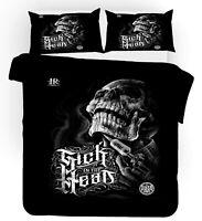 3D Black Skull Quilt Cover Set Bedding Duvet Cover Double/Queen/King 3pcs 85