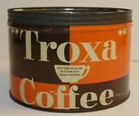Rare Vintage 1950s TROXA COFFEE KEYWIND COFFEE TIN 1 ONE POUND CHICAGO ILLINOIS