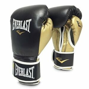 Everlast Powerlock Training Glove Blk/Gld Powerlock Training Gove, Black/Gold, 1