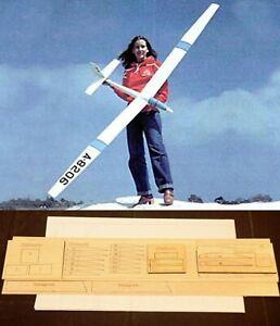 """96"""" wing span KITTIWAKE R/c Glider/Sailplane short kit/semi kit and plans"""