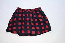 GAP Women Red Navy Square Pattern Pleated Skirt NwT Size 14
