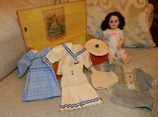 "10.5"" French or French Market Doll Marked DEP w Wardrobe Bleuette Little Sister"