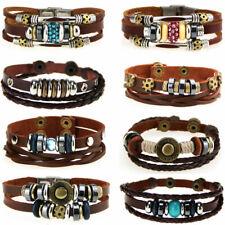Caripe Herren Damen Lederarmband Armband Glitzer Glitzer Nieten Beads miora