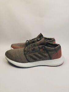 Adidas PureBOOST GO D97421 Running Training Shoes Gray Orange White Men's 10 New
