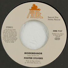 """FOSTER SYLVERS """" MISDEMEANOR """" / """" WHEN I'M NEAR YOU """" NEW UK 7"""" SOUL"""