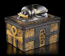 Ägyptische Schatulle mit Skarabäus - Fantasy Schmuckkästchen Deko