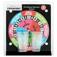 Drinking Spinner Party Game with Shot Cups -8 Piece