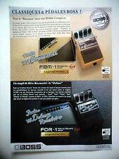 PUBLICITE-ADVERTISING :  Pédales BOSS Bassman,Deluxe  07-08/2007