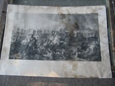 RAREST 1821 PRINT CLENNELL/ BROMLEY LIFEGUARDS AT THE BATTLE OF WATERLOO 1ST !
