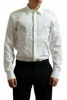 Gianfranco Ferre White Men's Long Sleeve Tuxedo Dress Shirt US 16.5 IT 42