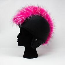 crazy pink faux fur ski helmet cover mohawk head band snowboard