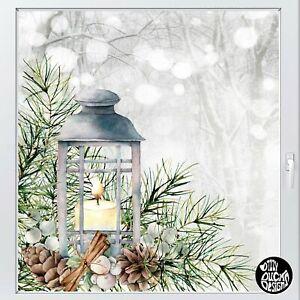 Dizzy Duck Xmas Window Decorations Lantern Window Decal - Christmas Sticker