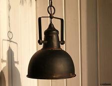 Chic Antique kleine Industrial Factory Deckenlampe Hängelampe rostig schwarz