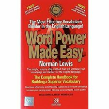 Word Power Made Easy by Norman Lewis (Paperback, 2009)