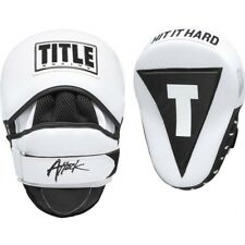 "Title Boxing Attack Big-T 2.5"" Extra-Thick Contoured Leather Punch Mitts - White"