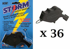 Storm Whistle loudest whistle in world Black Safety pack of 36