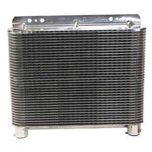 B&M 70272 Oil Cooler, Polished Aluminum Supercooler 20,500 BTU