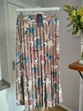 M&S Natural Knee Length Skirt 22 Long Bnwt New RRP £29.50 Pleated