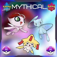 Pokémon Sword & Shield Mythical Celebi, Jirachi y Mew Shinys Nintendo Switch SDS