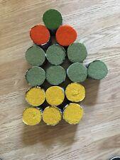 Lot of 16 Brunswick Wool Rug Yarn Latch Hook Pre-Cut Yellow Orange Green