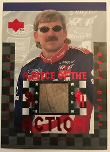 NASCAR DALE JARRETT 1996 UPPER DECK PIECE OF THE ACTION  - Race Glove #FS8
