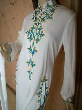 Vtg 60/70s Lillie Rubin Military Nehru Palazzo Pants Suit Jumpsuit Size M