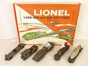 LIONEL #6-1805 RARE POSTWAR LAND-SEA & AIR GIFT PACK MILITARY SET-EX. IN OB!