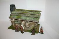 3154 Old West, Trapper, Blockhaus Milo Brucker,  zu 7cm Sammelfiguren, Wild West