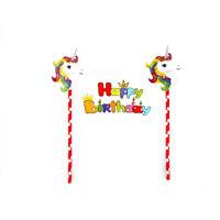 Einhorn Kuchen Topper Baby Shower Geburtstag Party Decor Weihnachtsfeier KuchenW