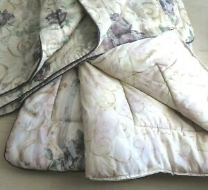 4pc Set Croscill Chambord Cassis Amethyst Rose Reversible FULL Comforter 3 Shams