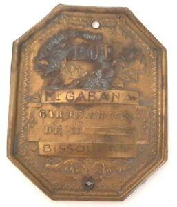 Plaque de Garde de Chasse Particulier M. Gabana