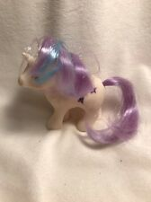 Vintage White My Little Pony 1984 Purple Blue  Hair Shooting Star Hasbro Flaw