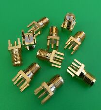 (1 PC) SMA Female Panel PCB Mount Solder Connector - USA Seller