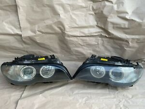 BMW 3 SERIES E-46 XENON HEADLIGHTS  PAIR FACELIFT COUPE CONVERTIBLE GENUINE OEM