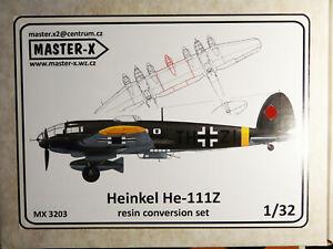 Heinkel He 111Z master-X resin conversion set 1/32 new