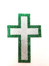 Ladies Green / Silver Vajazzle Body Jewellery Cross Kinky Fetish Wear (B4)