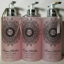 3 Vivian Gray Cream Soap Aroma Selection Lotus Rose 13.5 oz each